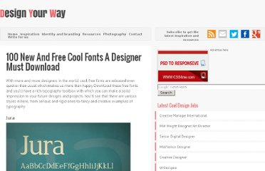 http://www.designyourway.net/blog/resources/100-new-and-free-cool-fonts-that-a-designer-must-download/