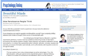 http://www.psychologytoday.com/blog/beautiful-minds/201106/how-renaissance-people-think