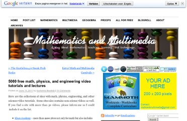 http://mathandmultimedia.com/2011/06/13/5000-free-math-video-tutorials/