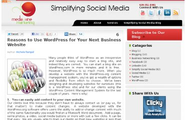 http://www.mediavinemarketing.com/simplify-social-media/6-reasons-to-use-wordpress-for-your-next-business-website/