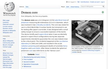 http://en.wikipedia.org/wiki/Demon_core