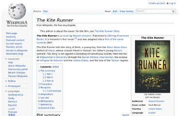 http://en.wikipedia.org/wiki/The_Kite_Runner