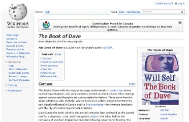 http://en.wikipedia.org/wiki/The_Book_of_Dave