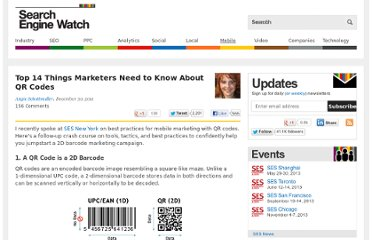 http://searchenginewatch.com/article/2066777/Top-14-Things-Marketers-Need-to-Know-About-QR-Codes