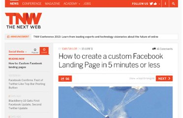 http://thenextweb.com/socialmedia/2011/06/13/how-to-create-a-custom-facebook-landing-page-in-5-minutes-or-less/