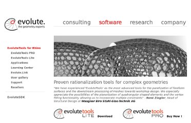 http://www.evolute.at/software/evolutetools-for-rhino.html