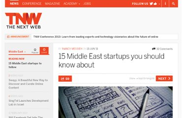 http://thenextweb.com/me/2011/06/13/15-middle-east-startups-you-should-know-about/