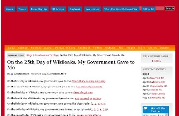 http://davidswanson.org/content/25th-day-wikileaks-my-government-gave-me