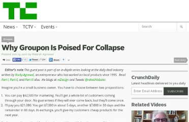 http://techcrunch.com/2011/06/13/why-groupon-is-poised-for-collapse/