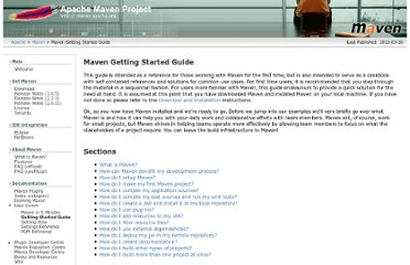 http://maven.apache.org/guides/getting-started/index.html