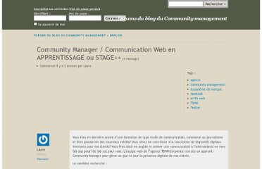 http://www.managerunecommunaute.com/forums/topic/community-manager-communication-web-en-apprentissage-ou-stage