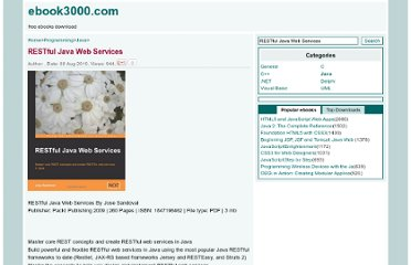 http://www.ebook3000.com/RESTful-Java-Web-Services_84309.html