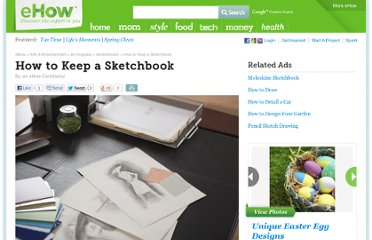 http://www.ehow.com/how_2082980_keep-sketchbook.html