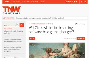 http://thenextweb.com/apps/2011/06/14/will-clios-ai-music-streaming-software-be-a-game-changer/