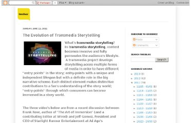 http://mygoodbuzz.blogspot.com/2011/06/evolution-of-transmedia-storytelling.html