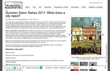 http://www.sdmart.org/programs-events/summer-salon-series-2011#