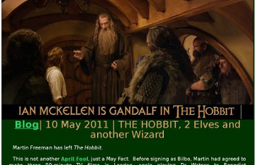 http://www.mckellen.com/cinema/hobbit-movie/110510.htm