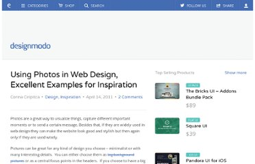 http://designmodo.com/using-photos-in-web-design-excellent-examples-for-inspiration/