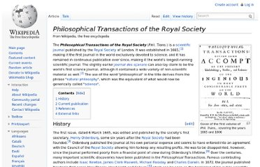 http://en.wikipedia.org/wiki/Philosophical_Transactions_of_the_Royal_Society