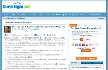 http://searchengineland.com/15-tips-for-a-successful-facebook-ads-program-80335