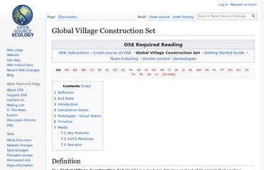 http://opensourceecology.org/wiki/Global_Village_Construction_Set