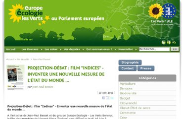 http://europeecologie.eu/Projection-Debat-film-Indices