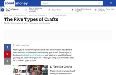 http://artsandcrafts.about.com/od/startingyourbusiness/tp/crafttypes.htm