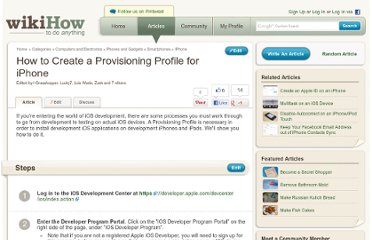 http://www.wikihow.com/Create-a-Provisioning-Profile-for-iPhone