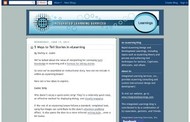 http://blog.integratedlearningservices.com/2011/06/5-ways-to-tell-stories-in-elearning.html