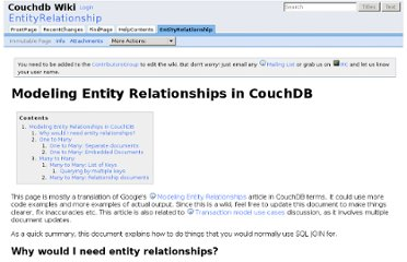 http://wiki.apache.org/couchdb/EntityRelationship#One_to_Many:_Separate_documents