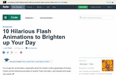 http://active.tutsplus.com/articles/roundups/10-hilarious-flash-animations-to-brighten-up-your-day/