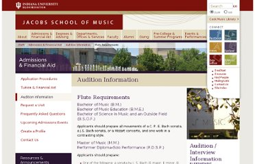 http://www.music.indiana.edu/admissions/auditions/flute.shtml