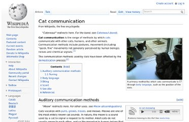 http://en.wikipedia.org/wiki/Cat_communication