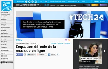 http://www.france24.com/fr/20110613-2011-06-13-internet-musique-piratage-apple-technologie-tech-24-france-webradio-pandora-blackberry
