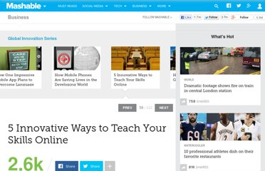 http://mashable.com/2011/06/15/teach-anything-online/