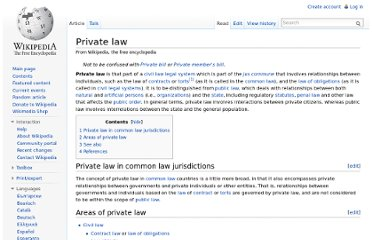 http://en.wikipedia.org/wiki/Private_law