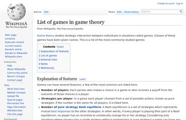http://en.wikipedia.org/wiki/List_of_games_in_game_theory