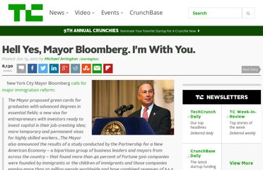 http://techcrunch.com/2011/06/15/hell-yes-mayor-bloomberg-im-with-you/