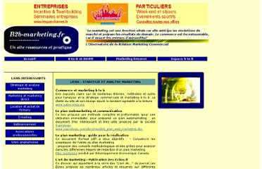 http://www.b2b-marketing.fr/5-liens-strategie-marketing.php