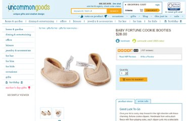 http://www.uncommongoods.com/product/baby-fortune-cookie-booties