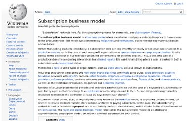 http://en.wikipedia.org/wiki/Subscription_business_model