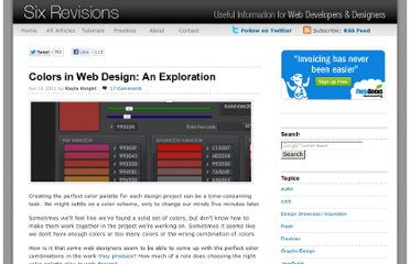 http://sixrevisions.com/web_design/colors-in-web-design-an-exploration/