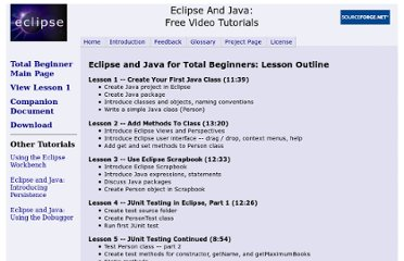http://eclipsetutorial.sourceforge.net/totalbeginnerlessons.html