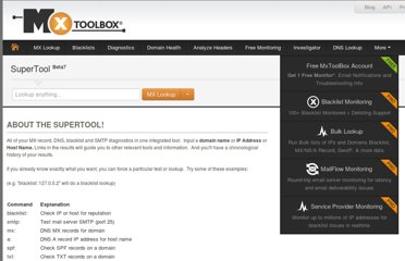 http://www.mxtoolbox.com/SuperTool.aspx