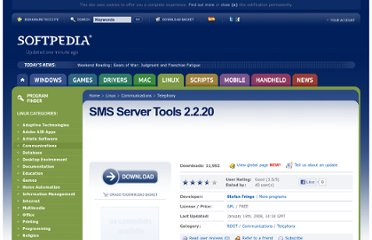 http://linux.softpedia.com/get/Communications/Telephony/SMS-Server-Tools-5735.shtml