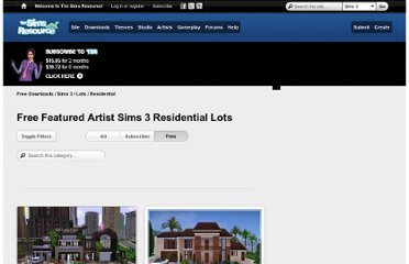 http://www.thesimsresource.com/downloads/browse/category/sims3-lots-residential/free/1/artistlevel/featured/page/3/cnt/742/