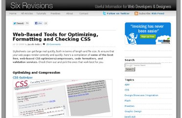 http://sixrevisions.com/css/css_code_optimization_formatting_validation/