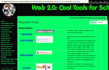 http://cooltoolsforschools.wikispaces.com/Research+Tools