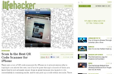 http://lifehacker.com/5812632/scan-is-the-best-qr-code-scanner-for-iphone