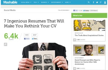 http://mashable.com/2011/06/16/creative-resume-designs/